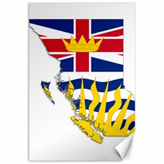 Flag Map Of British Columbia Canvas 24  X 36  by abbeyz71