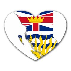 Flag Map Of British Columbia Heart Mousepads by abbeyz71