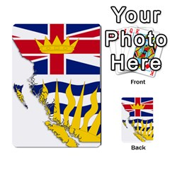 Flag Map Of British Columbia Multi Purpose Cards (rectangle)  by abbeyz71