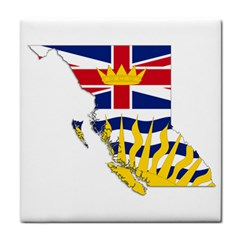 Flag Map Of British Columbia Face Towel by abbeyz71