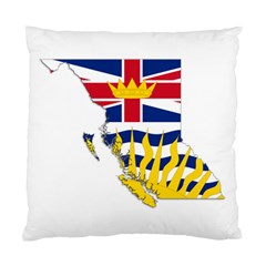 Flag Map Of British Columbia Standard Cushion Case (one Side) by abbeyz71