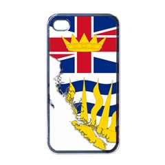 Flag Map Of British Columbia Apple Iphone 4 Case (black) by abbeyz71