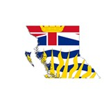 Flag Map of British Columbia Best Wish 3D Greeting Card (8x4) Front