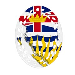Flag Map Of British Columbia Oval Filigree Ornament (2 Side)  by abbeyz71
