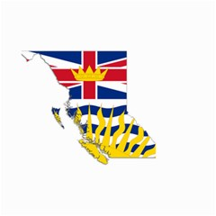 Flag Map Of British Columbia Small Garden Flag (two Sides) by abbeyz71