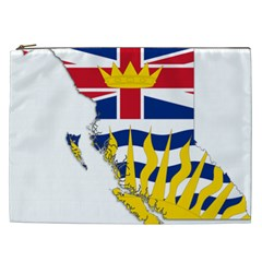 Flag Map Of British Columbia Cosmetic Bag (xxl)  by abbeyz71