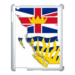 Flag Map Of British Columbia Apple Ipad 3/4 Case (white) by abbeyz71