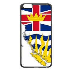 Flag Map Of British Columbia Apple Iphone 6 Plus/6s Plus Black Enamel Case by abbeyz71
