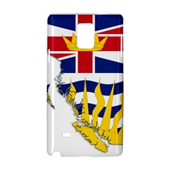 Flag Map Of British Columbia Samsung Galaxy Note 4 Hardshell Case by abbeyz71