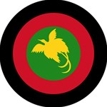Roundel of Papua New Guinea Air Operations Element BEST SIS 3D Greeting Card (8x4) Inside