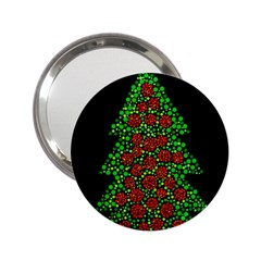 Sparkling Christmas Tree 2 25  Handbag Mirrors