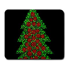Sparkling Christmas Tree Large Mousepads by Valentinaart