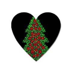 Sparkling Christmas Tree Heart Magnet by Valentinaart