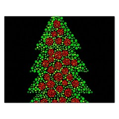 Sparkling Christmas Tree Rectangular Jigsaw Puzzl by Valentinaart