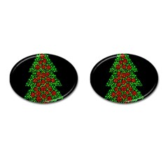 Sparkling Christmas Tree Cufflinks (oval) by Valentinaart