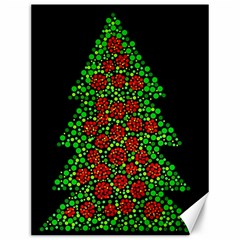 Sparkling Christmas Tree Canvas 12  X 16   by Valentinaart