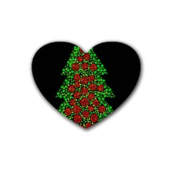 Sparkling Christmas Tree Heart Coaster (4 Pack)  by Valentinaart