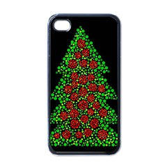 Sparkling Christmas Tree Apple Iphone 4 Case (black)
