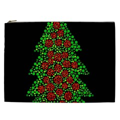 Sparkling Christmas Tree Cosmetic Bag (xxl)  by Valentinaart