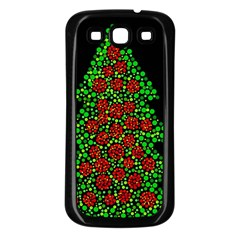 Sparkling Christmas Tree Samsung Galaxy S3 Back Case (black) by Valentinaart
