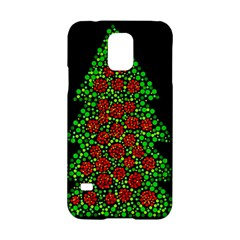 Sparkling Christmas Tree Samsung Galaxy S5 Hardshell Case  by Valentinaart