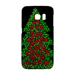 Sparkling Christmas Tree Galaxy S6 Edge by Valentinaart