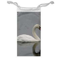 Swimming White Swan Jewelry Bags by picsaspassion