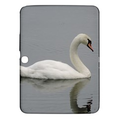 Swimming White Swan Samsung Galaxy Tab 3 (10 1 ) P5200 Hardshell Case  by picsaspassion