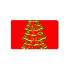Sparkling Christmas Tree   Red Magnet (name Card) by Valentinaart