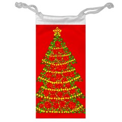 Sparkling Christmas Tree   Red Jewelry Bags by Valentinaart