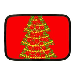 Sparkling Christmas Tree   Red Netbook Case (medium)  by Valentinaart