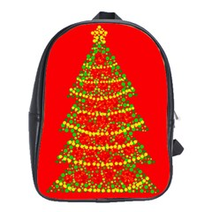 Sparkling Christmas Tree   Red School Bags(large)