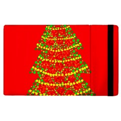 Sparkling Christmas Tree   Red Apple Ipad 2 Flip Case by Valentinaart