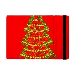 Sparkling Christmas Tree   Red Apple Ipad Mini Flip Case by Valentinaart