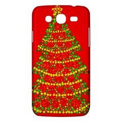 Sparkling Christmas Tree   Red Samsung Galaxy Mega 5 8 I9152 Hardshell Case  by Valentinaart