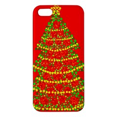 Sparkling Christmas Tree   Red Iphone 5s/ Se Premium Hardshell Case by Valentinaart