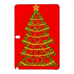 Sparkling Christmas Tree   Red Samsung Galaxy Tab Pro 10 1 Hardshell Case by Valentinaart