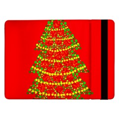 Sparkling Christmas Tree   Red Samsung Galaxy Tab Pro 12 2  Flip Case by Valentinaart