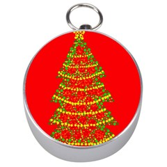Sparkling Christmas Tree   Red Silver Compasses