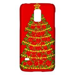 Sparkling Christmas Tree   Red Galaxy S5 Mini by Valentinaart