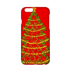Sparkling Christmas Tree   Red Apple Iphone 6/6s Hardshell Case by Valentinaart