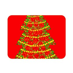 Sparkling Christmas Tree   Red Double Sided Flano Blanket (mini)  by Valentinaart