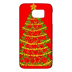 Sparkling Christmas Tree   Red Galaxy S6 by Valentinaart
