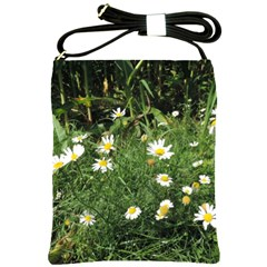Wild Daisy Summer Flowers Shoulder Sling Bags