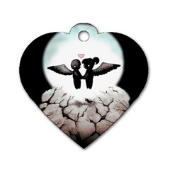 The World Comes Crashing Down Dog Tag Heart (one Side) by lvbart