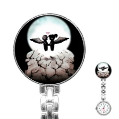 The World Comes Crashing Down Stainless Steel Nurses Watch by lvbart