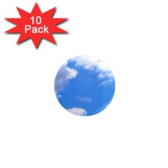 Summer Clouds And Blue Sky 1  Mini Magnet (10 Pack)