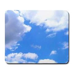 Summer Clouds And Blue Sky Large Mousepads