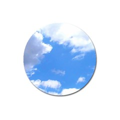 Summer Clouds And Blue Sky Magnet 3  (round)