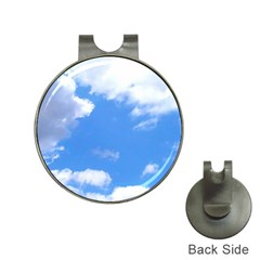 Summer Clouds And Blue Sky Hat Clips With Golf Markers